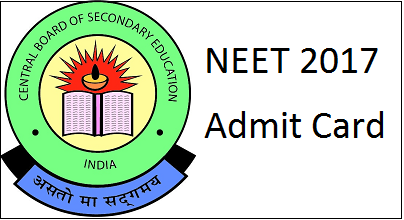 neet 2017 admit card