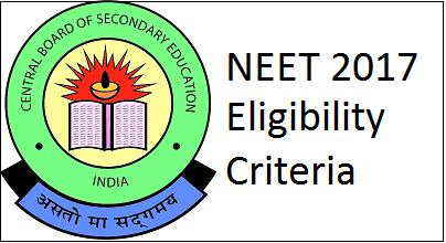 NEET 2017 Eligibility Criteria