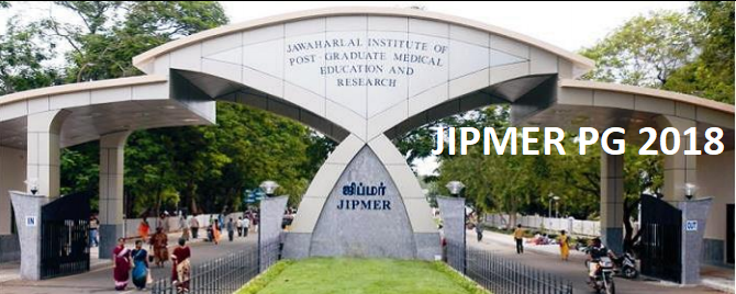 JIPMER PG 2018 Notification, Application Form, Eligibility, Exam Dates